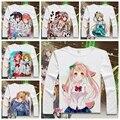 2016 New Japan Anime Love live T shirt  Long Sleeve Honoka Kousaka Cosplay T-Shirts Cartoon New Printed Tops Tee YD-030