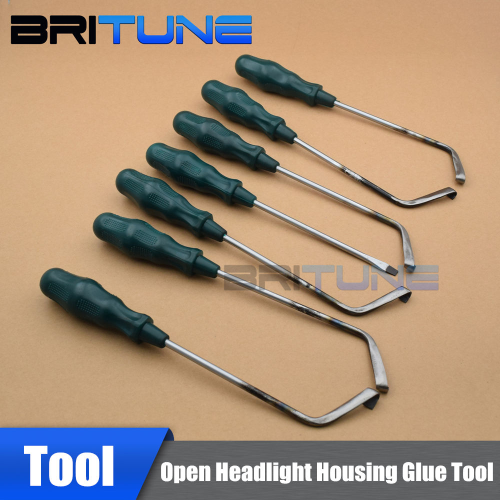 Headlamp Remover Headlight Open Tool Cold Glue Tool Knife For Auto Repair Housing Retrofit To Removing Melt Sealant Customs 7PCS