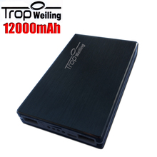 Tropweiling high-end Power Bank 12000mAh Portable External Battery Pack powerbank with polymer battery for all phones