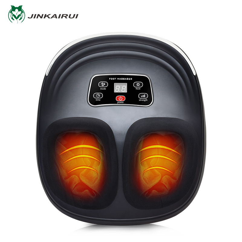 Jinkairui 220 V EU prise électrique anti-stress masseur de pieds vibrateur Machine de Massage infrarouge chauffage thérapie dispositif de soins de santé