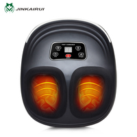 Jinkairui 220V EU Plug Electric Antistress Foot Massager Vibrator Massage Machine Infrared Heating Therapy Health Care Device