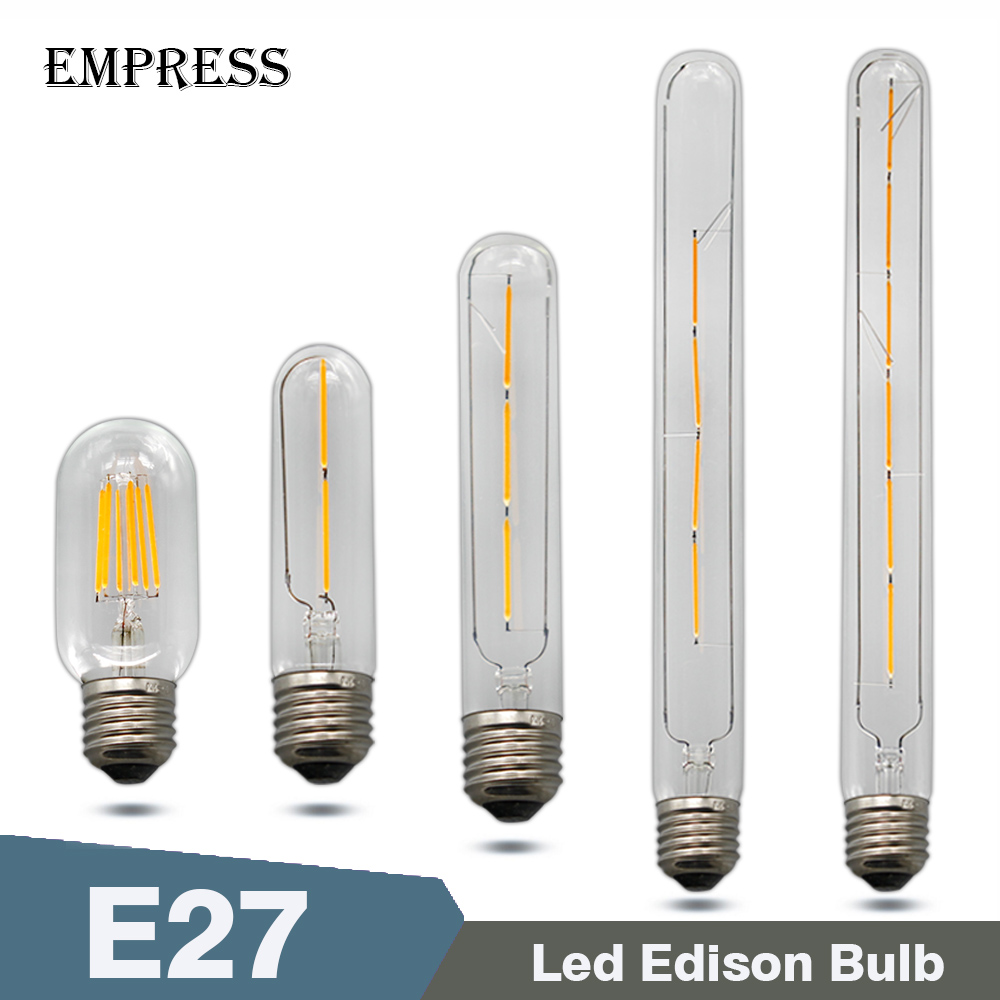T45 T110 T185 T300 LED Edison Bulb lampada E27 220v For Decor LED Energy Saving Lamp LED Filament Candle Light Retro Lighting enwye e14 led candle energy crystal lamp saving lamp light bulb home lighting decoration led lamp 5w 7w 220v 230v 240v smd2835