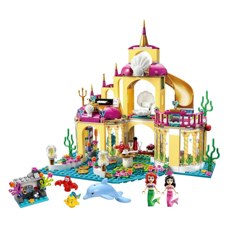 Educational-Building-Blocks-Toys-For-Children-Gifts-Castle-Girls-Friends-Princess-Prince-Mermaid-Beauty-Beast-Snow-Elsa-Anna-5
