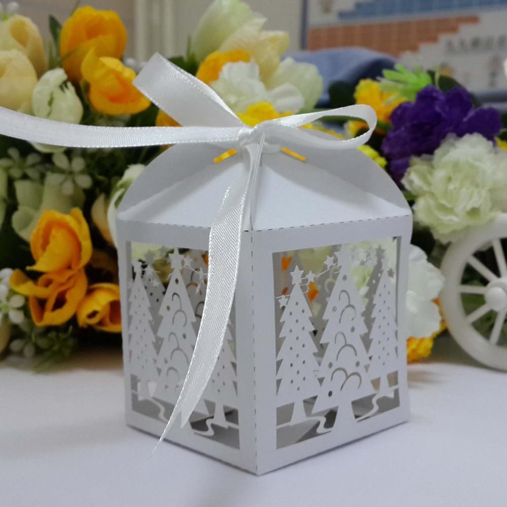 Wedding Gift Ideas For Kids: 50pcs Christmas Tree Lace Candy Chocolate Box Wedding