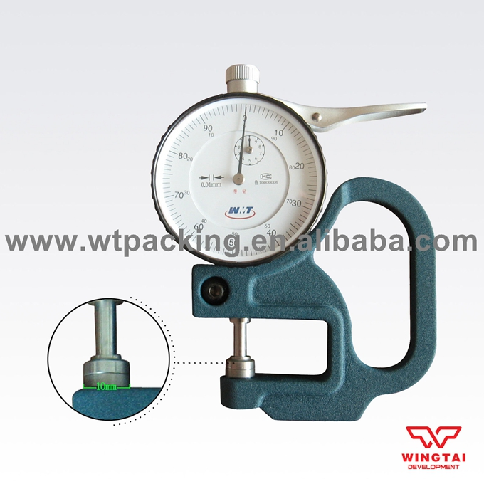 Measuring Range 0-10mm, Measuring Depth 30mm Portable Dial Thickness Gauge measuring range 0
