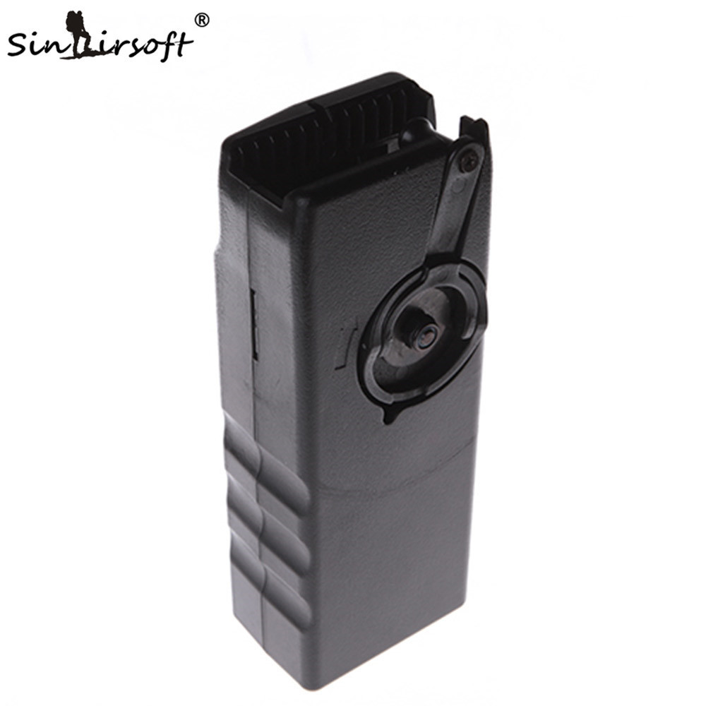 1000rd Plastic BB Speed Loader M4 Hand Crank Military Quick Loader Magazine For Airsoft Paintball Shooting Hunting Accessories
