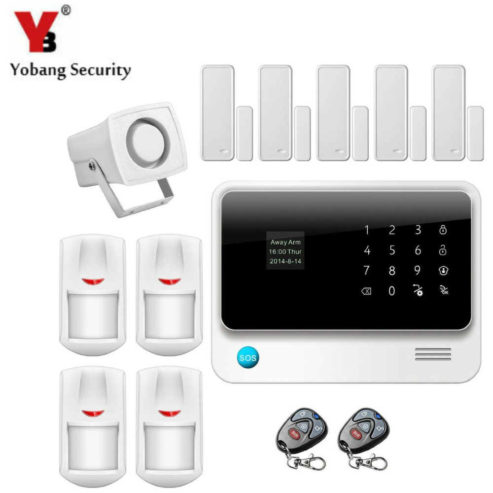 YobangSecurity Wireless WIFI GSM Burglar Alarm G90B Android IOS APP PIR Alarm Sensor Magnet Door Sensor with Close Reminder yobangsecurity android ios app wifi gsm home burglar alarm system with wifi ip camera relay pir detector magnetic door contact
