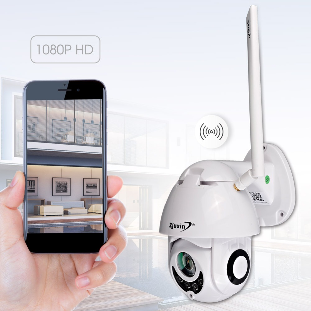 WIFI Camera Outdoor PTZ IP Camera 1080p Speed Dome IR Onvif ip cam pan tilt Home Security surveillance ipCam Camara exterior-in Surveillance Cameras from Security & Protection    1