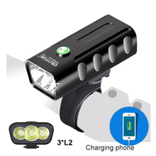 USB Bicycle Lamp Mountain Bike Light T6 Torchlight Night Riding Super-bright Headlamp Charging Strong Equipment