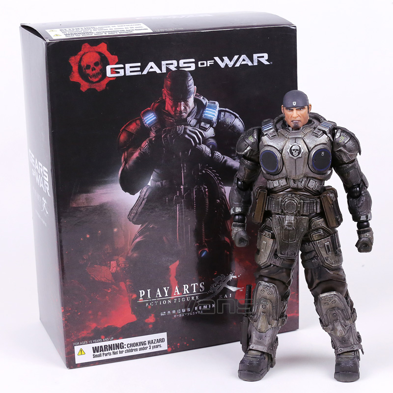 Jouer Arts Kai Gears Of War Marcus Fenix Action PVC Figure Collection Modèle Jouet