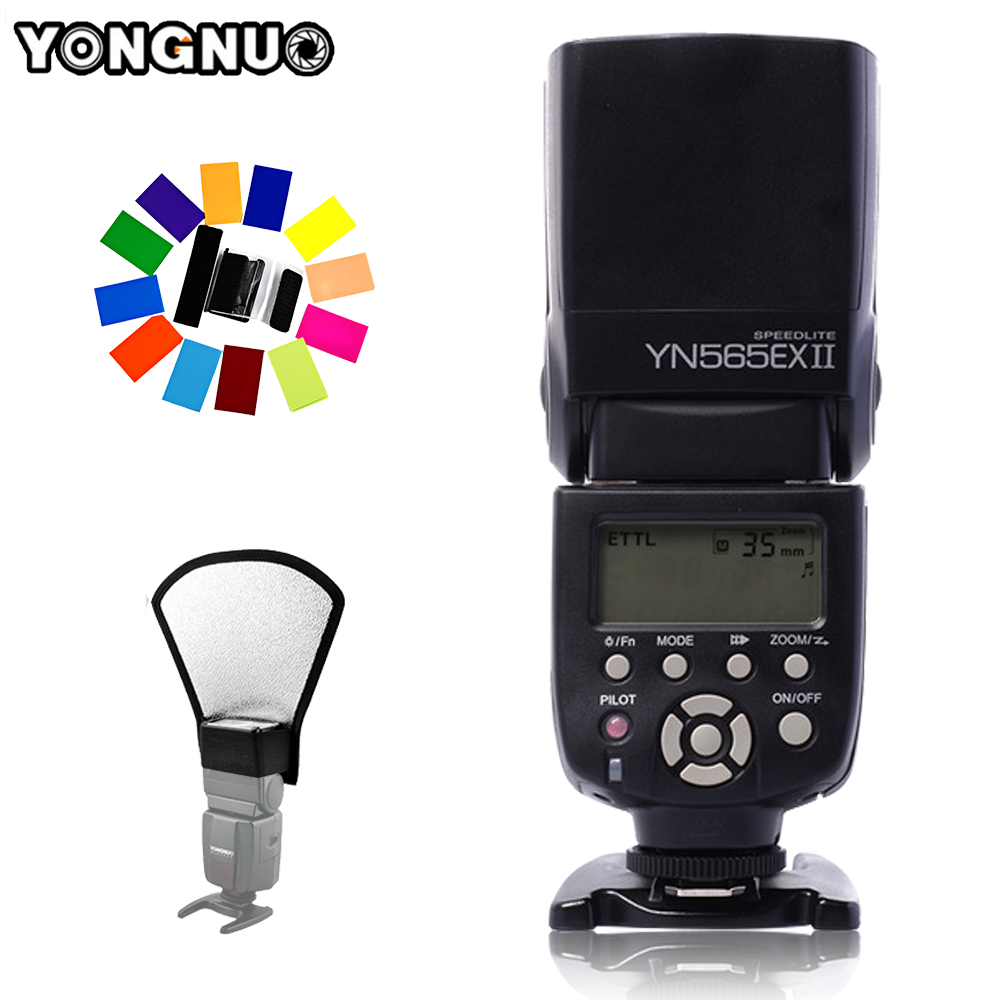 цена на YONGNUO YN565EX II TTL Flash Speedlite YN-565EX II Light for Canon 5D Mark II 550D 600D 1000D 1100D 60D 70D 650D DSLR Camera