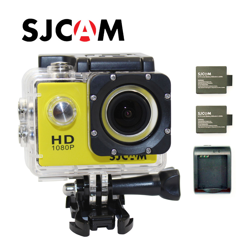 Free shipping!!Original SJCAM SJ4000 Full HD 1080P Waterproof Action Camera Sport DVR+Extra 2pcs battery+1pc Battery Charger free shipping original sjcam m10 wifi full hd sport action camera extra 1pcs battery battery charger 32gb class10 sd card