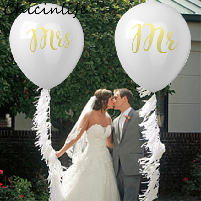chicinlife 10pcsbag 10inch mr mrs latex balloons bachelorette party bridal shower wedding bride to