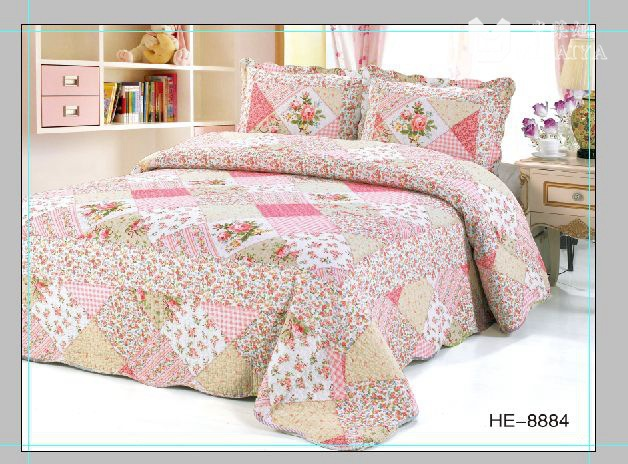 QUILT trade boutique three-piece bed cover air conditioning is cotton printing beddingQUILT trade boutique three-piece bed cover air conditioning is cotton printing bedding