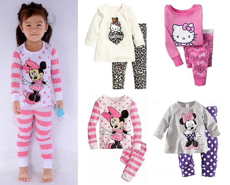 New Baby Clothes Newborn Costume Boys Girls Baby Toddler Baby Girl Kids Children Pajamas Set Sleepwear T-shirt Top Pants Pijamas