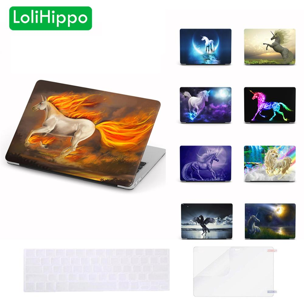 LoliHippo Unicorn Series Laptop Protective Case for font b Apple b font font b Macbook b