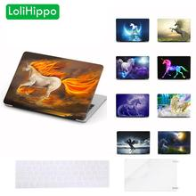 LoliHippo Unicorn Series Laptop Protective Case for Apple Macbook Air Pro 11 12 13 15 Inch A1466 A1706 Unicorn Notebook Cover