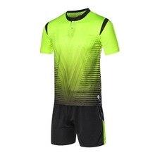 2017 Football Jerseys Breathable Soccer  Men Professional Uniform Camisetas De Futbol  Plus Size Jersey Sets