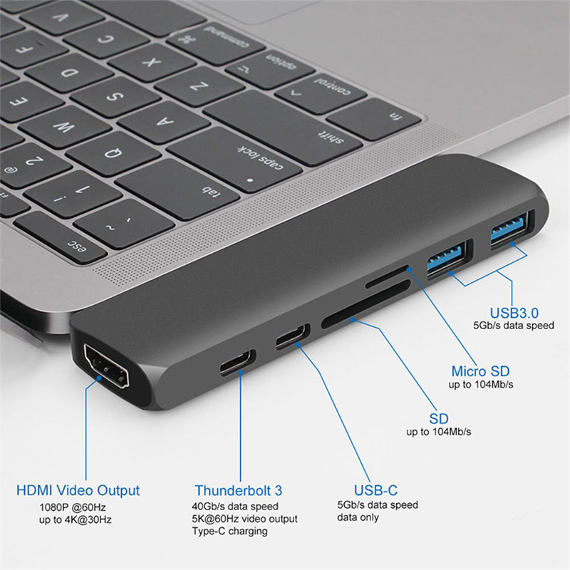 Image 3 - Notebook Phone Projector USB C Converter Type c Docking Station 7 In 1 Multi interface Accessories-in Computer Cables & Connectors from Computer & Office
