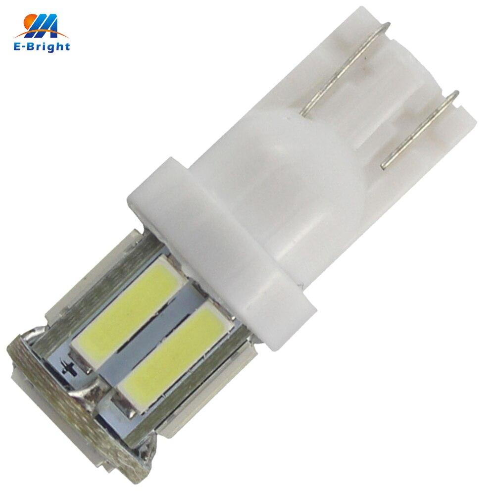 Super Bright 300PCS lot T10 7014 10 SMD W5W 10Led Auto Door Lights 12V 7000K Instrument