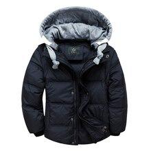 Зимой вниз пальто ребенок мужского пола короткая конструкция утолщение детская одежда вниз жилет куртки ветровки 6 Цвета 5 Размер
