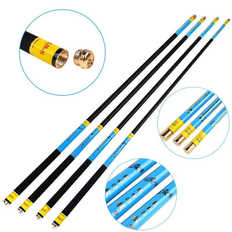 3.6m/3.9m/4.5m/5.4m/6.3m fishing rods high-quality stream  fishing pole hard taiwan fishing rod blue fishing pole fast transport m