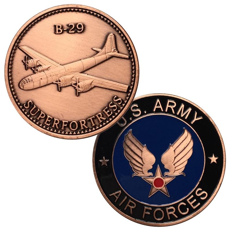 Питания Медь покрытием ВВС США b-29 superforterss ВВС США Военная Униформа вызов монета/медаль 5046