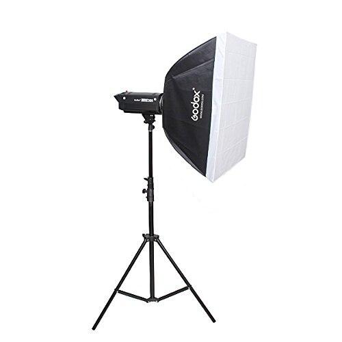 """Tüketici Elektroniği'ten Flaş Difüzör'de Godox 60x60 cm/24 """"x 24"""" Bowens Dağı Dikdörtgen Taşınabilir Strobe Softbox Difüzör stüdyo Strobe Flaş Speedlite"""