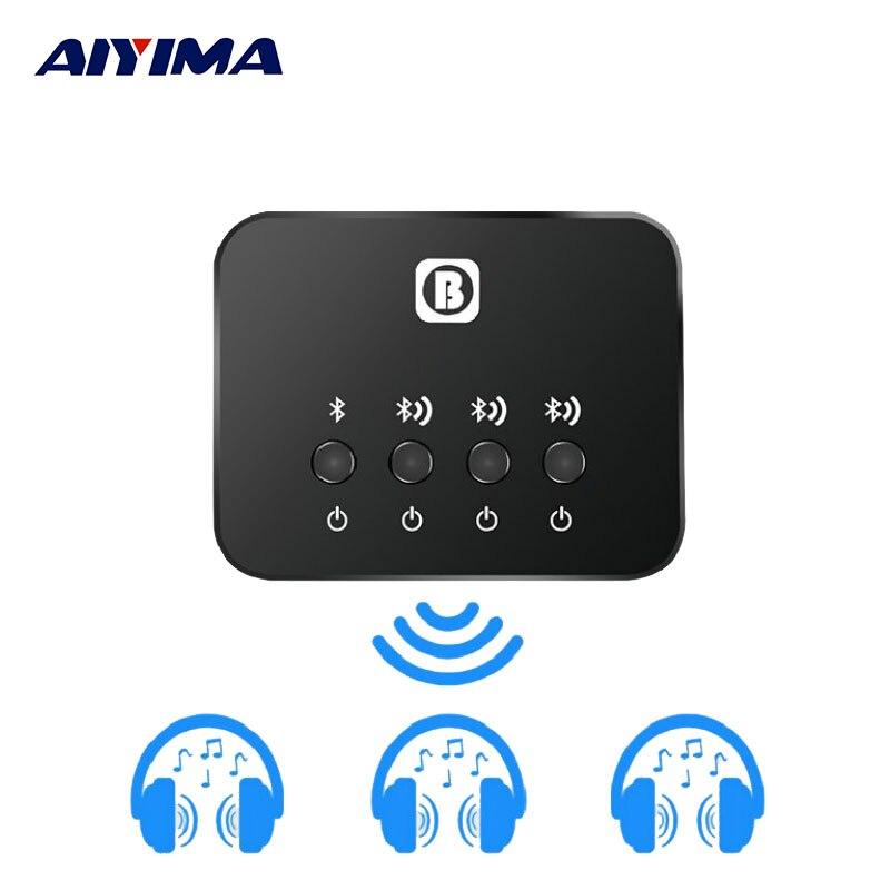 Récepteur émetteur sans fil Adaptador Bluetooth AIYIMA V4.0 BW-107 une part avec trois émetteurs Bluetooth