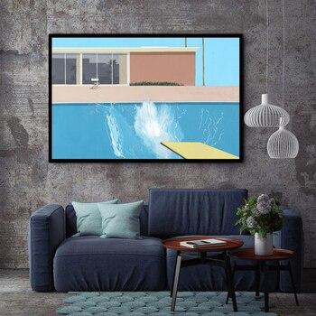 XX3205 David Hockney większy Splashist niestandardowy gorący nowy plakat artystyczny Top Canvas Home Decor wydruki na ścianę