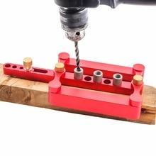 Multi-Функция Ultimate самоцентровкой Дюбеля джиг отверстие локатор бурения Инструменты 3 в 1 удар локатор Деревообработка столярных инструмент комплект