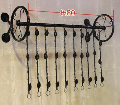 Clothes rack for men and women's clothing. Display shelves are displayed on the display rack.