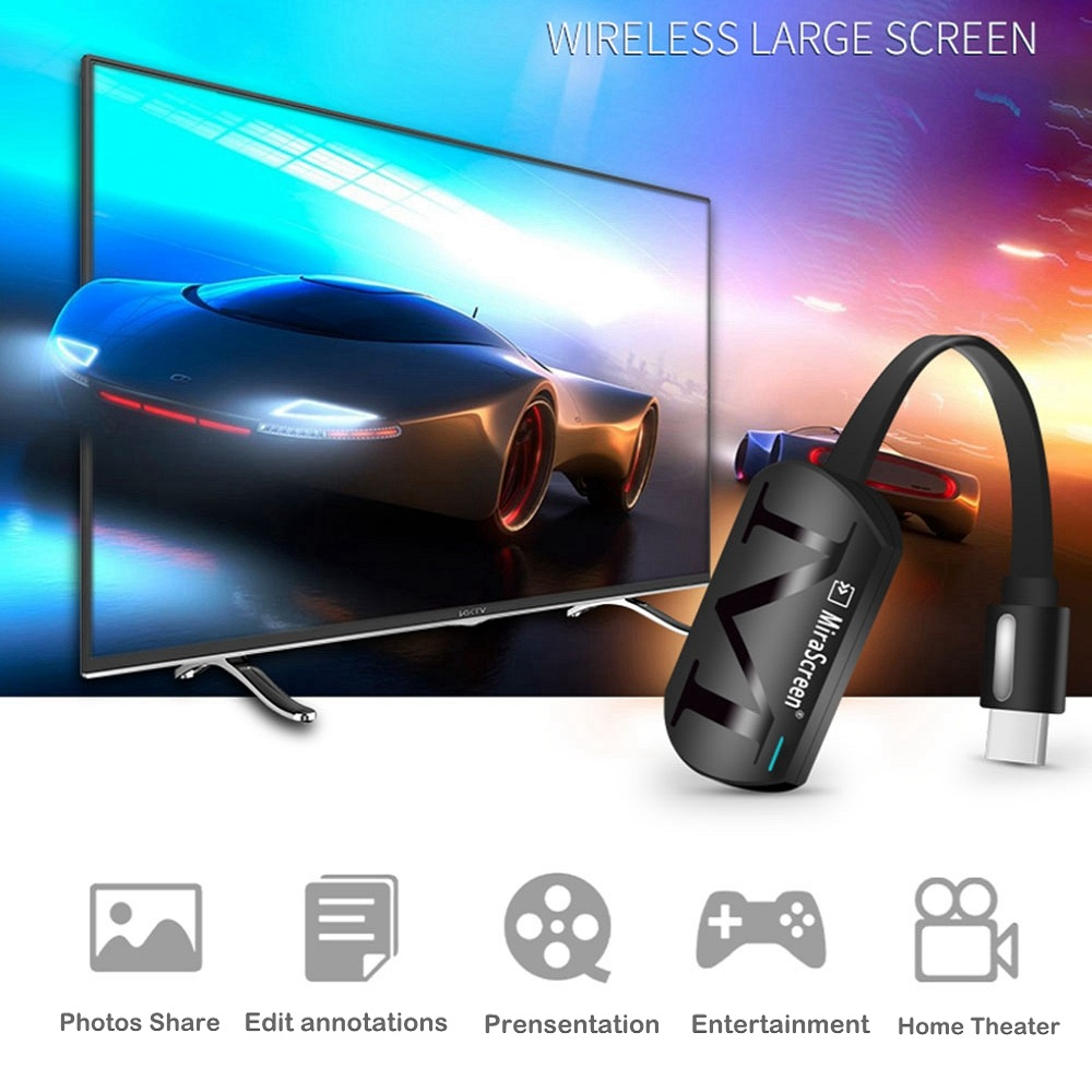 Mirascreen G4 WiFi Display Dongle Receiver for Google Chromecast 2 Chrome Crome Cast Cromecast Dongle Media Streamer Miracast G2