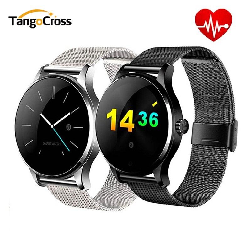 K88H Bluetooth montre intelligente moniteur de fréquence cardiaque montres intelligentes avec fonction Siri MTK2502 pour iOS Android Smartphone hommes