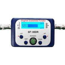Digital Satellite Finder SF-95DR Meter Satlink Receptor TV Signal Receiver Sat Decoder DVB-T2 Satfinder Compass LCD FTA Dish