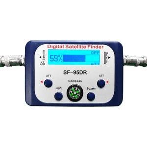 Digital Satellite Finder SF-95DR Meter Satlink Receptor TV Signal Receiver Sat Decoder DVB-T2 Satfinder Compass LCD FTA Dish(China)