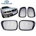 2 PCS Gloss Preto Grills Rim Grade Dianteira Para BMW E39 525 528 530 535 M5 1997-2003 Car Styling Acessório # P215