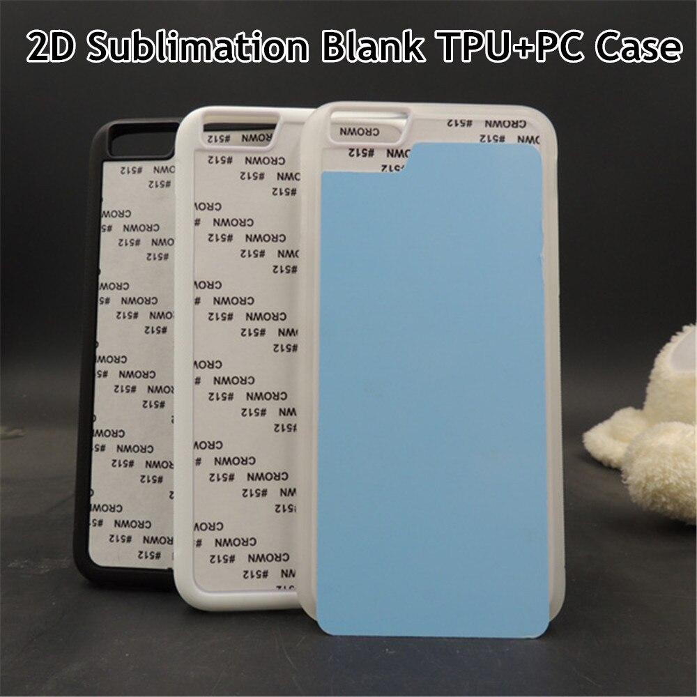 """Цена за 10 шт./лот 2D Сублимация пустой ТПУ мягкий чехол задняя крышка для iPhone 6 plus 6S плюс 5.5 """"алюминиевые вставки Клей DIY охватывает"""
