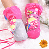 Windstopper Winter Mittens For Kids Family Men Women Gloves Hand Warmer Thermal Children Gloves Waterproof Outdoor