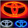 1 Set White/Red/Blue Hilux Vigo 4D logo light LED cold light emblem led logo Car Sticker car badge light for Toyota