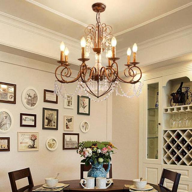 Italia ferro Arrugginito lampadario per sala da pranzo In Ottone ...