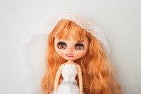 Настройки куклы DIY Изменить Блит кукла для подарок на день рождения свадебные юбилеи свадебное платье BJD кукла с яркой кожей с ямочками