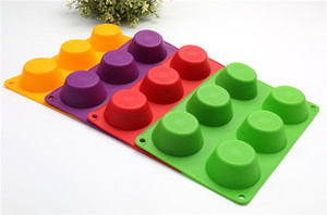 Image 5 - Moldes para magdalenas, bandejas para hornear galletas, 6 Cupcakes de silicona, molde de taza, bandeja antiadherente, utensilios para hornear