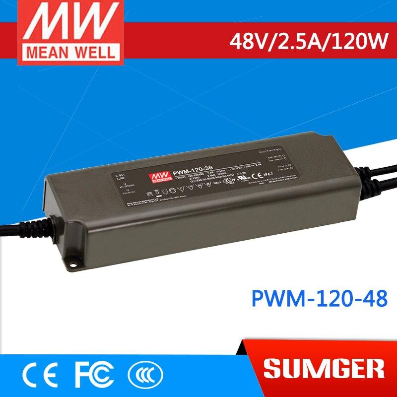 1MEAN WELL original PWM-120-48 48V 2.5A meanwell PWM-120 48V 120W Single Output LED Power Supply минипечь gefest пгэ 120 пгэ 120