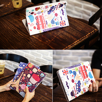 """case ipad !ACCEZZ Cartoon Flip Cover Tablet Sleeve For iPad Mini 1 2 3 4 7.9"""" inches Holder Stand Smart Sleep Wake Up Full Protective Case (4)"""