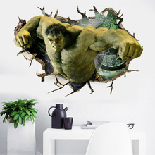 Dream home A027 through the wall hulk new avengers cartoon paste bedroom children room three-dimensional stickers