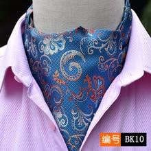 27 Styles 2019 Fashion Men Vintage Polyester Silk Print Paisley Scarf Polka Dot Scarves England Jacquard Weave Neck Ties Wedding