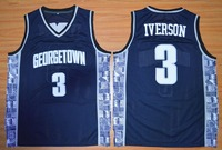 University 3 ALLEN IVERSON Georgetown Hoyas College JERSEY Cheap Retro Throwback Embroidery Stitched Basketball Jerseys