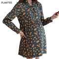 A Line Short Hamile Elbisesi with Print Fashion Vestidos Premama New Spring Maternity Clothes Dresses for Pregnant Women Outwear