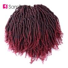 Лучший!  SAMBRAID Вязание крючком Passion Twist Hair Faux Locs Вязание крючком синтетических волос 24 корня Лучший!